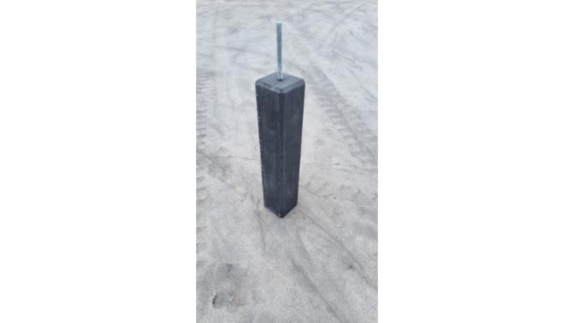 Betonpoer recht 12x12x58 cm antraciet