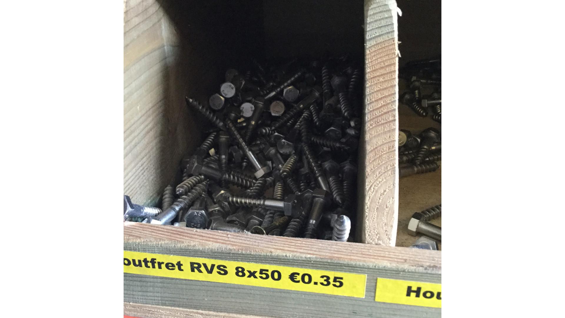 Houtfret RVS - 8 mm
