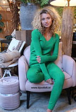 Dames Rib Set Groen