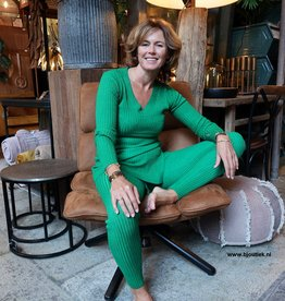 Dames Rib Set Groen