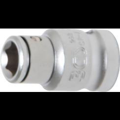 "Bitadapter met blokkeerkogel  binnenvierkant 10 mm (3/8"")  binnenzeskant 8 mm (5/16"")"