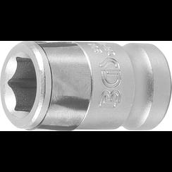 "Bitadapter met blokkeerkogel  binnenvierkant 10 mm (3/8"")  binnenzeskant 10 mm (3/8"")"