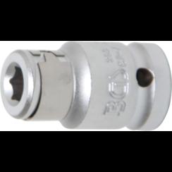 "Bit Adaptor with retaining Ball  12.5 mm (1/2"") Drive  internal Hexagon 8 mm (5/16"")"