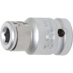 "Bitadapter met blokkeerkogel  binnenvierkant 12,5 mm (1/2"")  binnenzeskant 8 mm (5/16"")"
