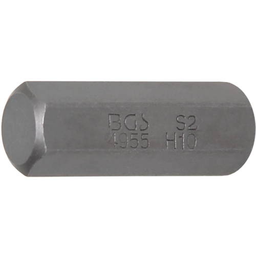 "BGS  Technic Bit  10 mm (3/8"") buitenzeskant  INBUS 10 mm"