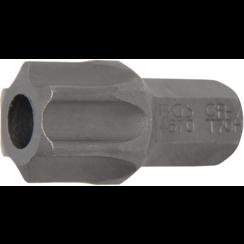 """Bit  10 mm (3/8"""") buitenzeskant Torx met boring T70"""