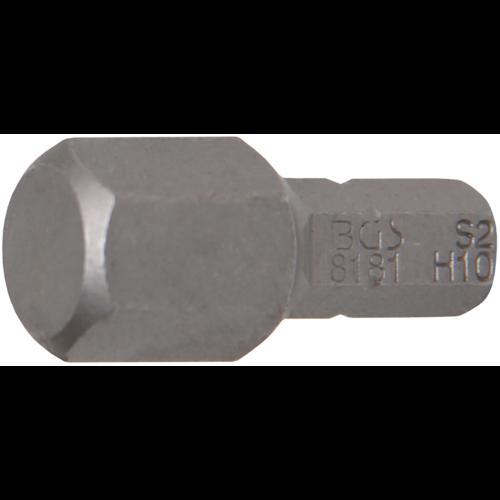 """BGS  Technic Bit  6.3 mm (1/4"""") Drive  internal Hexagon 10 mm"""