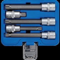 """Dopsleutelbitset  12,5 mm (1/2"""")  veeltand (voor XZN)  5-dlg"""
