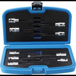 """Dopsleutelbitset  voor cilinderkopschroeven  12,5 mm (1/2"""")  9-dlg"""