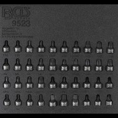 "Gereedschapmodule 1/6: kracht dopsleutelbitset  6,3 mm (1/4"")  40-dlg"