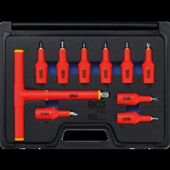 """VDE-dopsleutelbitset  aandrijving binnenvierkant 12,5 mm (1/2"""") Torx T20 - T55  10-dlg"""