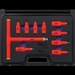 "VDE-dopsleutelbitset  aandrijving binnenvierkant 10 mm (3/8"") / 12,5 mm (1/2"")  binnenzeskant 4 - 10 mm  10-dlg"