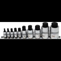 Dopsleutelbitset  extra kort  INBUS 4 - 19 mm  10-dlg