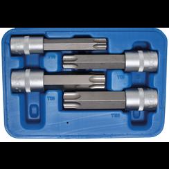 """Dopsleutelbitset  12,5 mm (1/2"""") Torx met boring  4-dlg"""