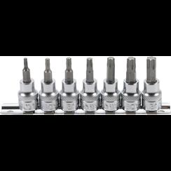 """Bit Socket Set  10 mm (3/8"""") Drive  T-Star (for Torx) T15 - T50  7 pcs."""