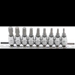 "Dopsleutelbitset  6,3 mm (1/4"") Torx T10 - T50  9-dlg"