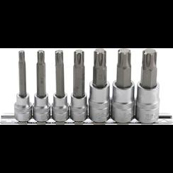 "Bit Socket Set  10 mm (3/8"") / 12,5 mm (1/2"") Drive  Spline (for RIBE) M6 - M14  7 pcs."