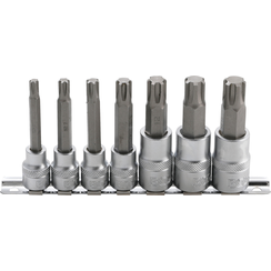 "Dopsleutelbitset  10 mm (3/8"") / 12,5 mm (1/2"")  wigprofiel (voor RIBE) M6 - M14  7-dlg."