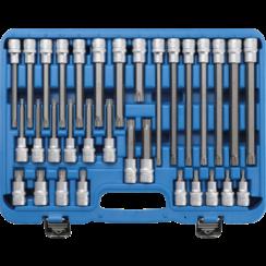 """Dopsleutelbitset  12,5 mm (1/2"""")  wigprofiel (voor RIBE)  32-dlg"""