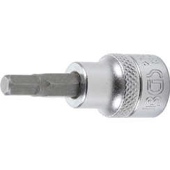 "Bit Socket  10 mm (3/8"") Drive  internal Hexagon 7/32"""