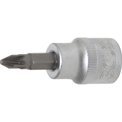 "Bit Socket  10 mm (3/8"") Drive  Cross Slot PZ2"