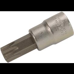 "Dopsleutelbit  10 mm (3/8"") Torx met boring T55"