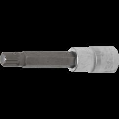 "Bit Socket  length 100 mm  12.5 mm (1/2"") Drive  Spline (for XZN)  M12"