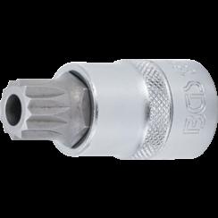 """Dopsleutelbit  12,5 mm (1/2"""")  veeltand (voor XZN) met boring M16"""