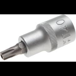 "Dopsleutelbit  12,5 mm (1/2"") Torx met boring T40"