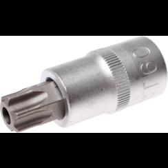 "Dopsleutelbit  12,5 mm (1/2"") Torx met boring T60"