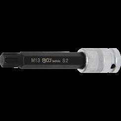 "Bit Socket  length 120 mm  12.5 mm (1/2"") Drive  Spline (for RIBE)  M13"