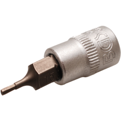 "Bit Socket  6.3 mm (1/4"") Drive  internal Hexagon 1.5 mm"