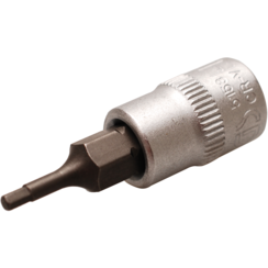 "Bit Socket  6.3 mm (1/4"") Drive  internal Hexagon 2 mm"