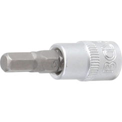 "Bit Socket  6.3 mm (1/4"") Drive  internal Hexagon 5.5 mm"