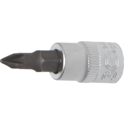"Bit Socket  6.3 mm (1/4"") Drive  Cross Slot PZ1"