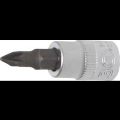 "Dopsleutelbit  6,3 mm (1/4"")  kruiskop PZ1"