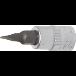 """Dopsleutelbit  6,3 mm (1/4"""")  sleuf 4 mm"""
