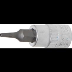 "Dopsleutelbit  6,3 mm (1/4"") Torx met boring T9"