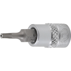 "Dopsleutelbit  6,3 mm (1/4"") Torx met boring T10"