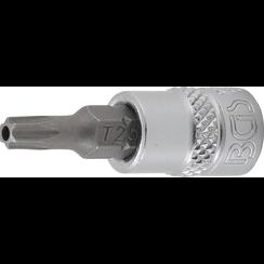 "Dopsleutelbit  6,3 mm (1/4"") Torx met boring T25"