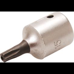 """Dopsleutelbit  6,3 mm (1/4"""")  TS-profiel (voor Torx-plus) met boring TS15"""