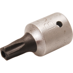 """Dopsleutelbit  6,3 mm (1/4"""")  TS-profiel (voor Torx-plus) met boring TS25"""