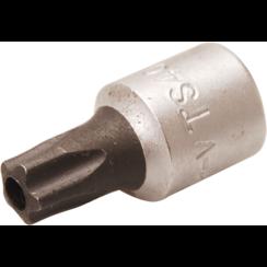 """Dopsleutelbit  6,3 mm (1/4"""")  TS-profiel (voor Torx-plus) met boring TS40"""