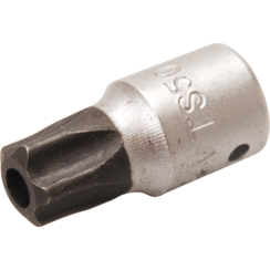 """Bit Socket  6.3 mm (1/4"""") Drive  T-Star tamperproof (for Torx) TS50"""