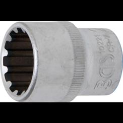 """Socket, Gear Lock  12.5 mm (1/2"""") Drive  21 mm"""