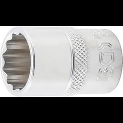 "Socket, 12-point  12.5 mm (1/2"") Drive  18 mm"