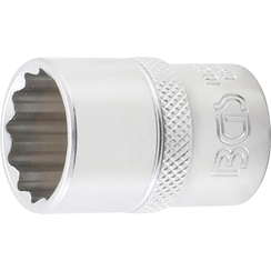 "Socket, 12-point  12.5 mm (1/2"") Drive  19 mm"