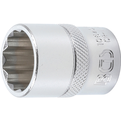 "Socket, 12-point  12.5 mm (1/2"") Drive  20 mm"