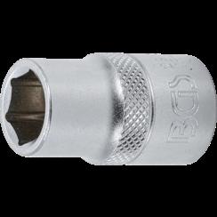 "Socket, Hexagon  12.5 mm (1/2"") Drive  13 mm"