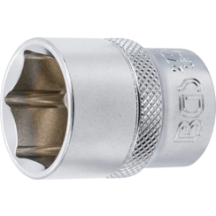 "Socket, Hexagon  12.5 mm (1/2"") Drive  13/16"""